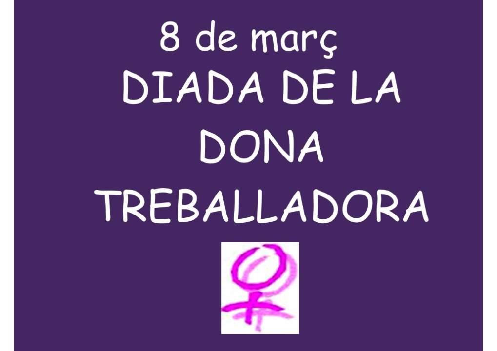 Acte commemoratiu del Dia internacional de la dona treballadora