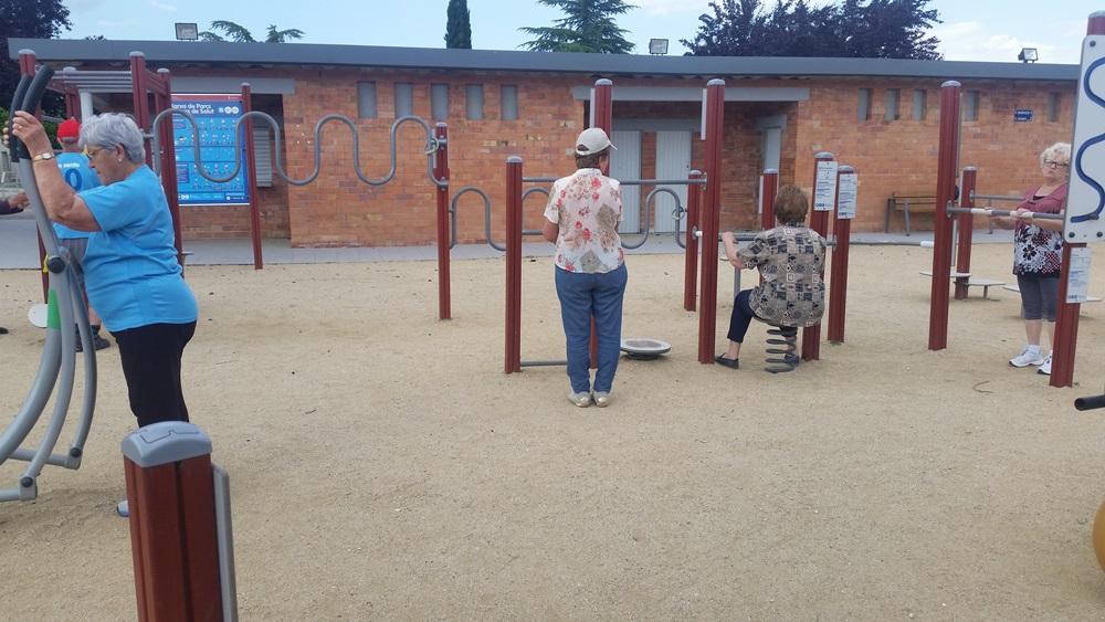 Sessions de dinamització al parc de la salut de Porqueres