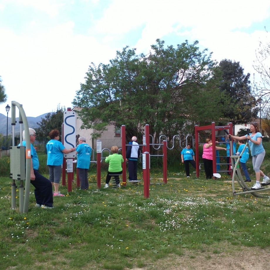 Dinamització als parcs urbans i als itineraris saludables de  Sant Miquel de Campmajor