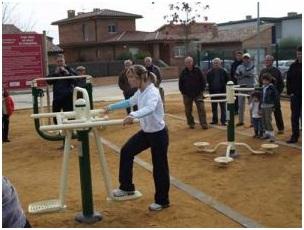 Sessions de dinamització al parc de salut de Porqueres