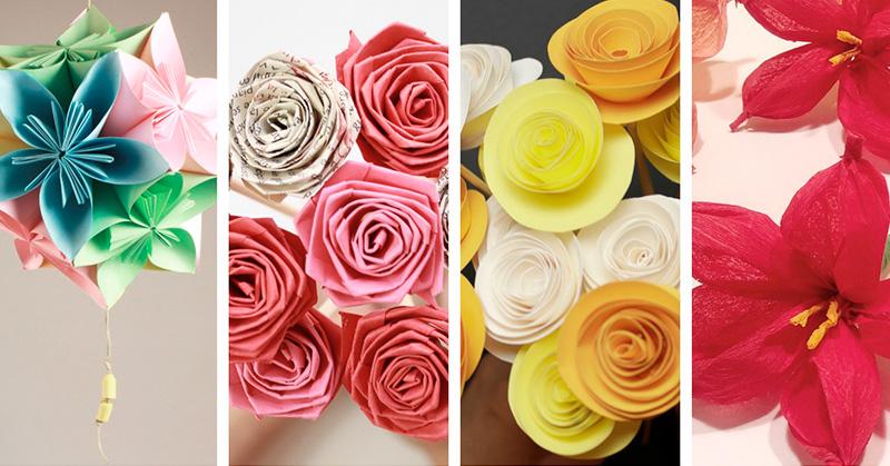 Bibliotaller -  Flors de paper