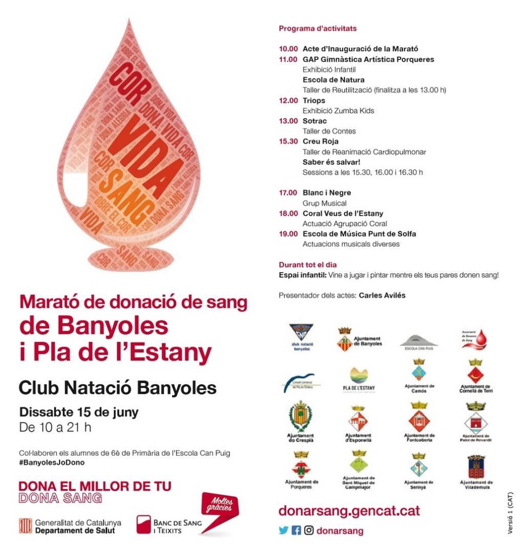 Marató de donació de sang de Banyoles i el Pla de l'Estany
