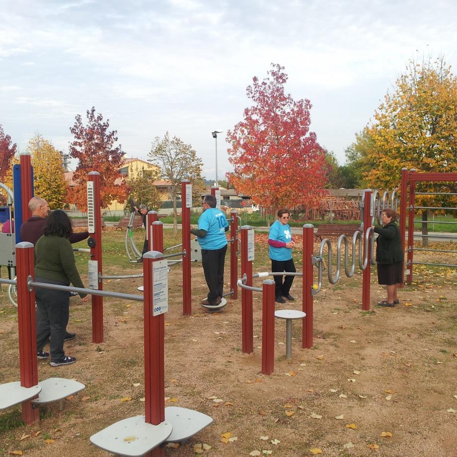 Dinamització als parcs urbans i als itineraris saludables de Camós