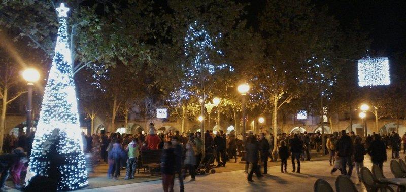 Encesa dels llums de Nadal a Banyoles