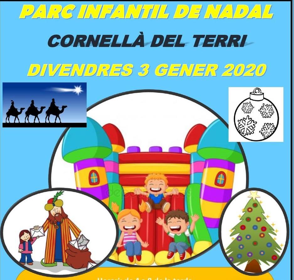 Pin de Nadal i arribada de patge reial a Cornellà del Terri