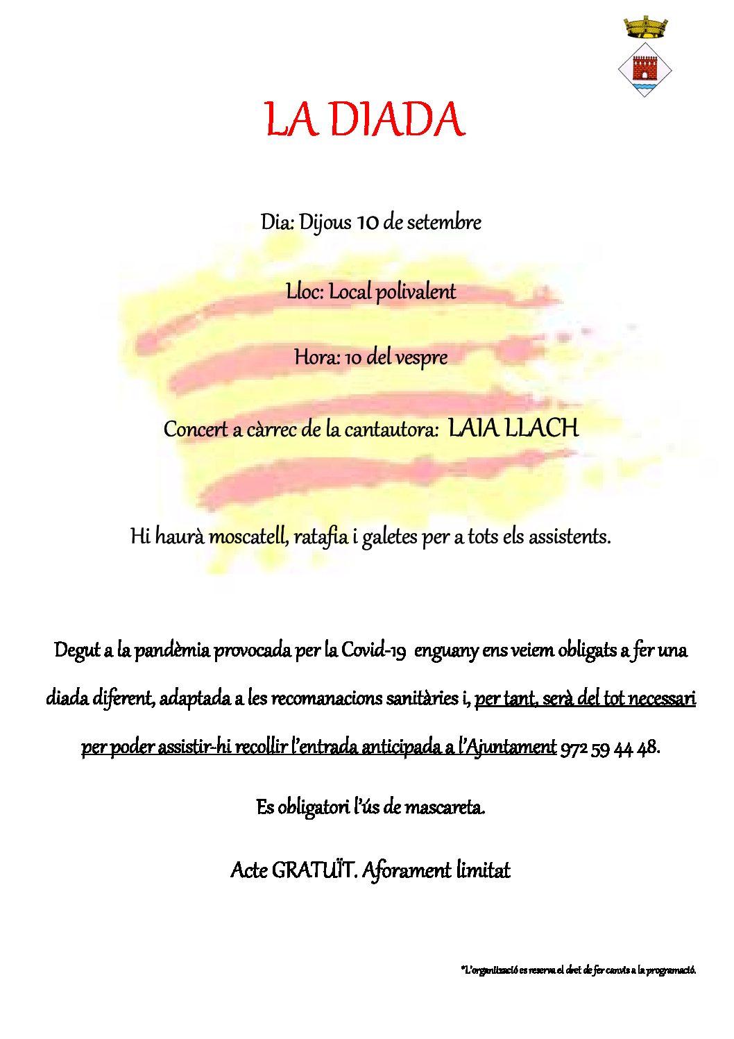 Diada Nacional de Catalunya a Palol de Revardit