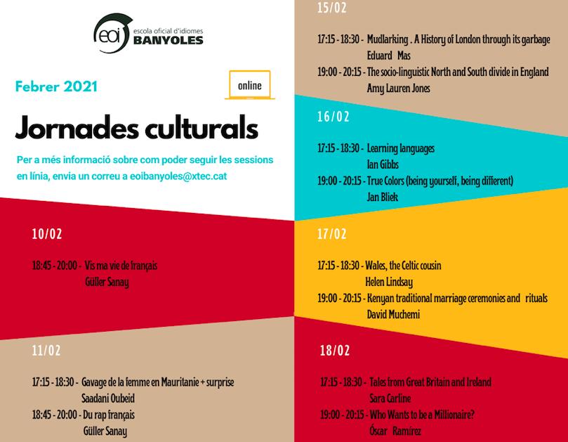 Jornades Culturals EOI - Format online