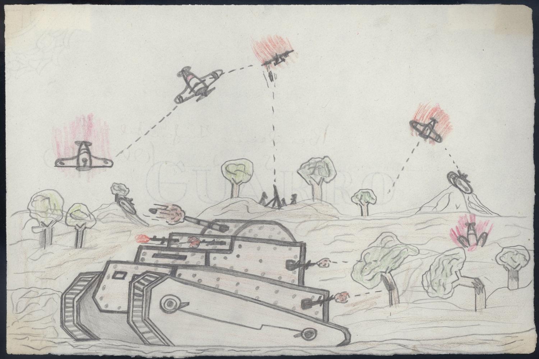 Llapis, paper i bombes (1936-1939), exposició